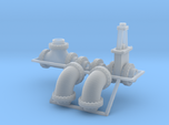 """1:87 - 24"""" flanged pipe fittings, gate valve 2ea"""
