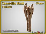 extinct Crocodile Skull Pendant