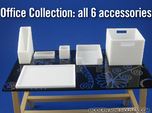 Office Collection 6-piece 1:12 scale accessories