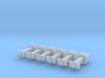 N Scale 10mm Fixed Coupling Drawbar x6