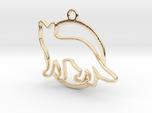 Fox & circle intertwined Pendant