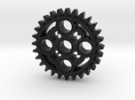 LEGO®-compatible 28-tooth bevel gear with pinhole