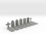 N Scale Cemetery Graves Graveyard 1:160