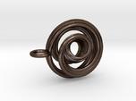 Single Strand Spiral Mobius Pendant