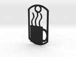 Coffee mug dog tag