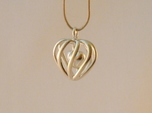 Heart Cage Pendant - Small, No Arrow