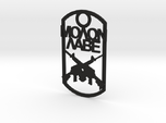 Molon Labe dog tag with crossed rifles