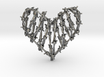 Barbed Wire Heart Cage Pendant