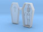 HO Scale Skeleton in a Casket