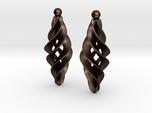 Spiral Star earrings pair