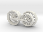1000-1 Fowler Plough Engine Wheels 1:87