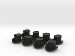 28mm Top hats (x8)