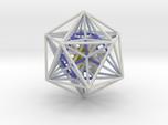 Icosahedron Dodecahedron nest White 100mm
