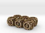 Steampunk Gear 6d6 Set