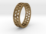 Hexagon Pattern Ring - Size 12 - Double Layer