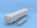1:160 N Scale 43' Aluminum Grain Trailer w/ Tarp