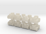 """7/8"""" scale pipe fittings: 2"""" pipe"""