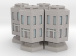 WHAM- Stackable Buildings w/ Rubble x4 (1/285th)