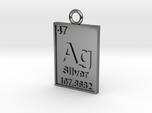Silver Periodic Table Pendant
