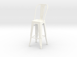 1:12 Tall Pauchard Stool, with High Back