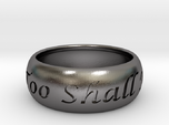 This Too Shall Pass, custom ring size