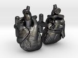 Anatomical Heart Cufflinks Pair (Front and Back)