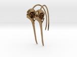 Pair (2) of Hummingbird Skull Earrings with Long B