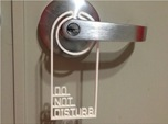 Door hanger - Do Not Disturb