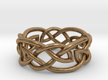 Leaf Celtic Knot Ring
