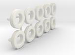 1/64 205/75R15 Trailer Tire