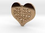 Celtic Knot heart Necklace Pendant