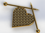 Woven Heart with Knitting Needles