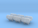 1:96 Life Boat Canister for ship side - set of 6