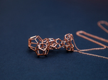 Vertical dodecahedron pendent