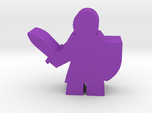 Knight Meeple, with sword and shield