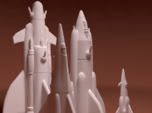 Martian War Rocket Fleet