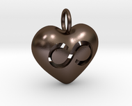 Hollow Infinity Heart Pendant