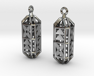 Octagon Cage Earrings