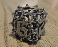 Chained D6 for steel
