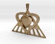 Pi Heart Medallion