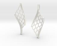 Twisted lattice girder earrings