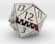 D20 White Monster Figurine