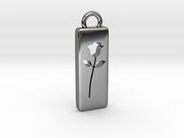 Rose Pendant in Premium Silver