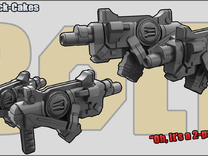 Snack-Cakes: Machine Pistols in White Strong & Flexible