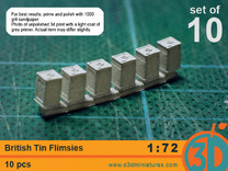 British Tin Flimsies 1/72 scale pack of 10 in Frosted Ultra Detail