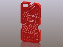 iPhone5_The Chinese Style -- Ancient costume 02 in Red Strong & Flexible Polished