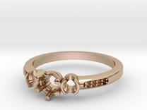 3 Stone Bezel Engagement Ring in 14k Rose Gold