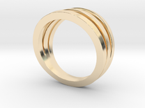 Triband Ring in 14K Gold