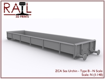 ZCA Sea Urchin - N Scale - Type B in Frosted Ultra Detail