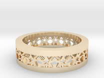 AB061 Star Band in 14K Gold